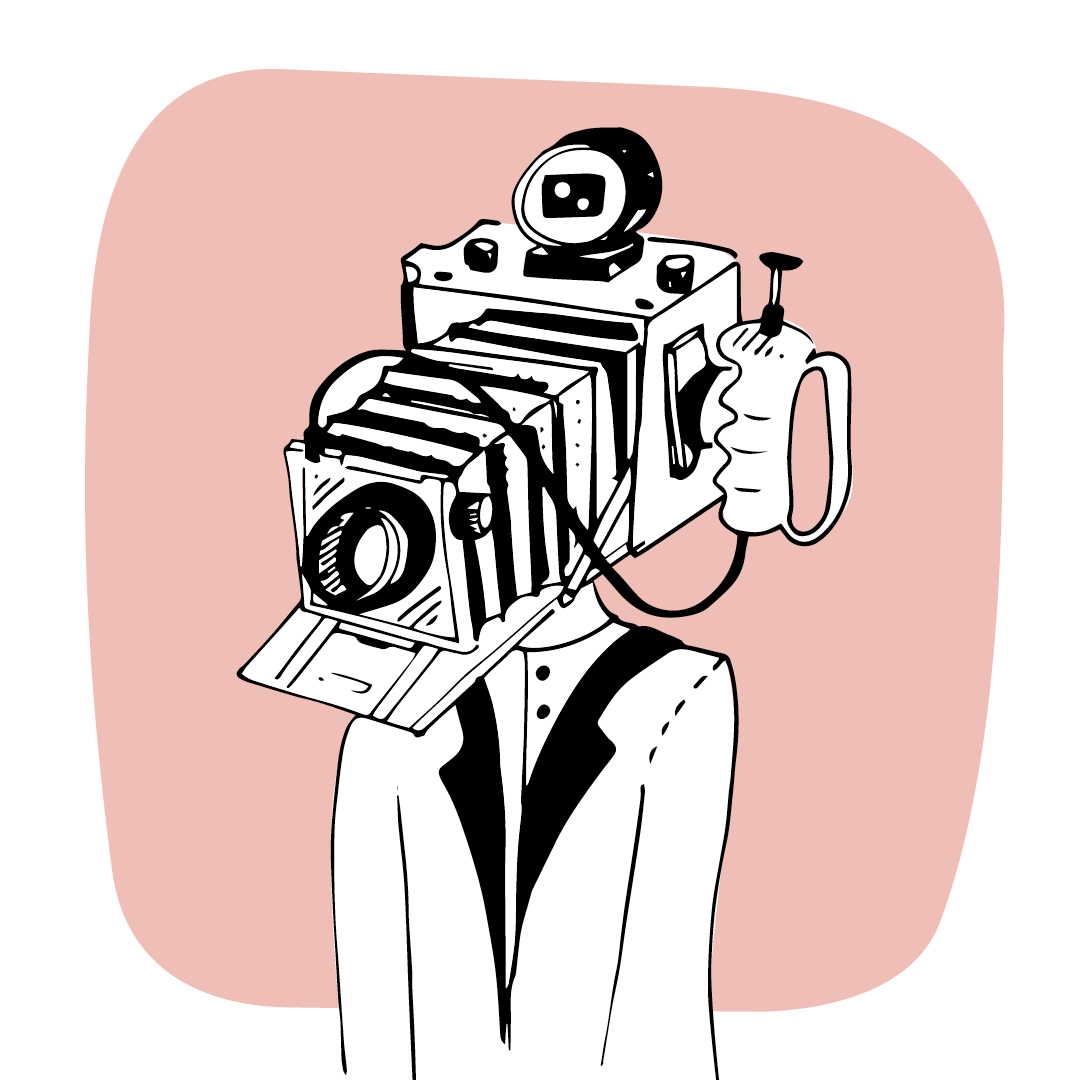 Nadia Groff - Vintage people - illustration - photography guy - old camera 2