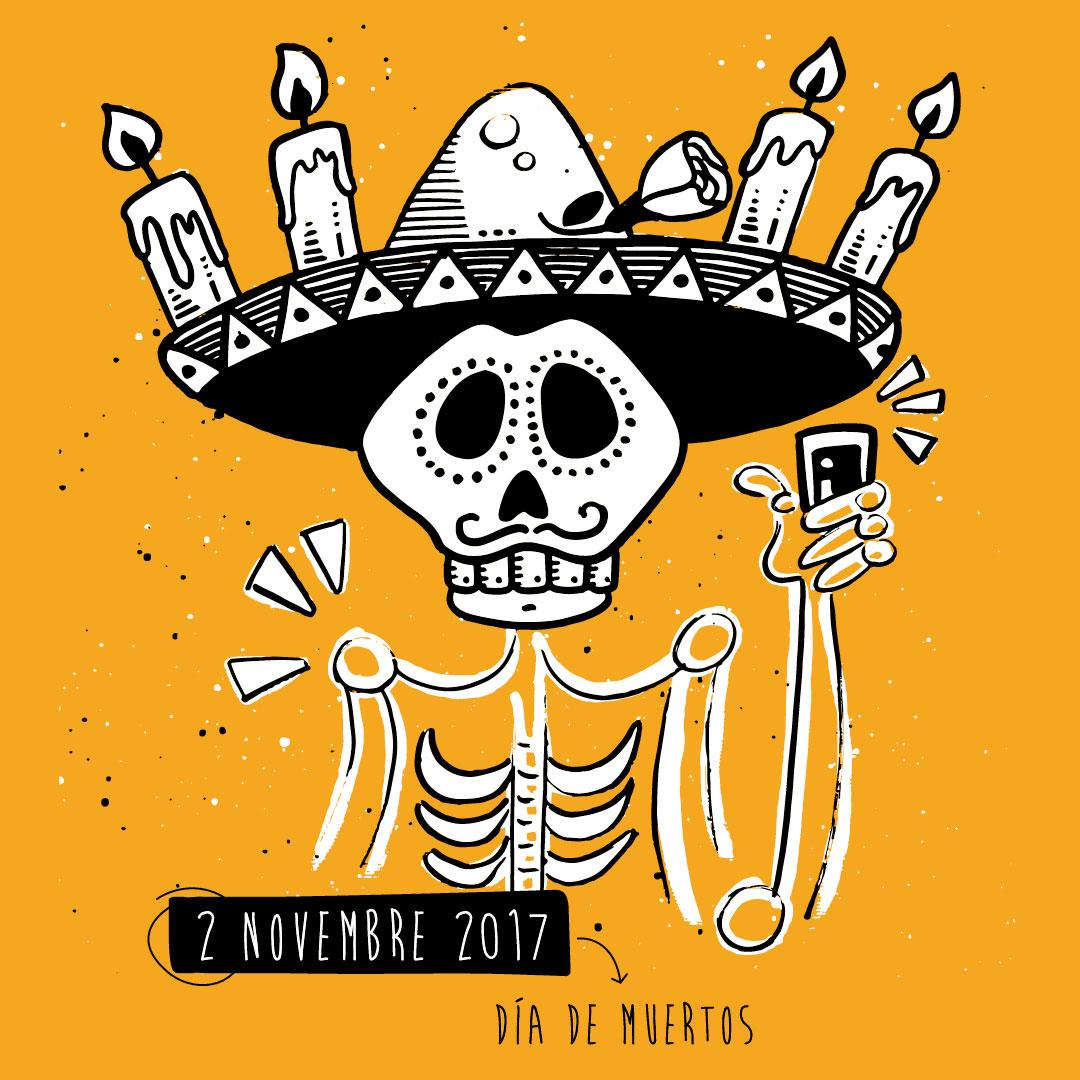 Nadia Groff - calendario - ngr - dia de los muerto - mexico