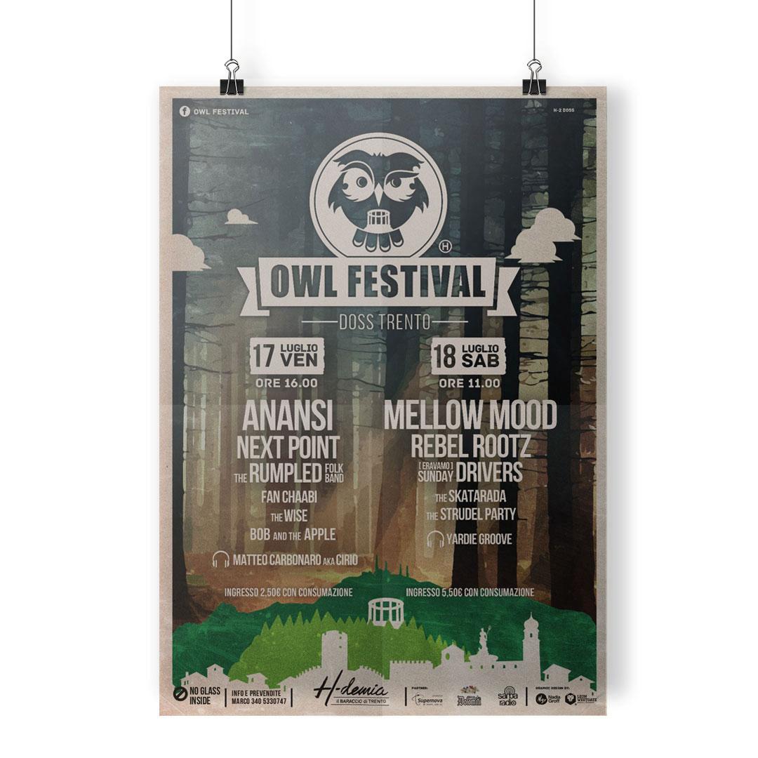 Nadia Groff - Owl Festival - Music Summer Festival - Trento - Poster 2016