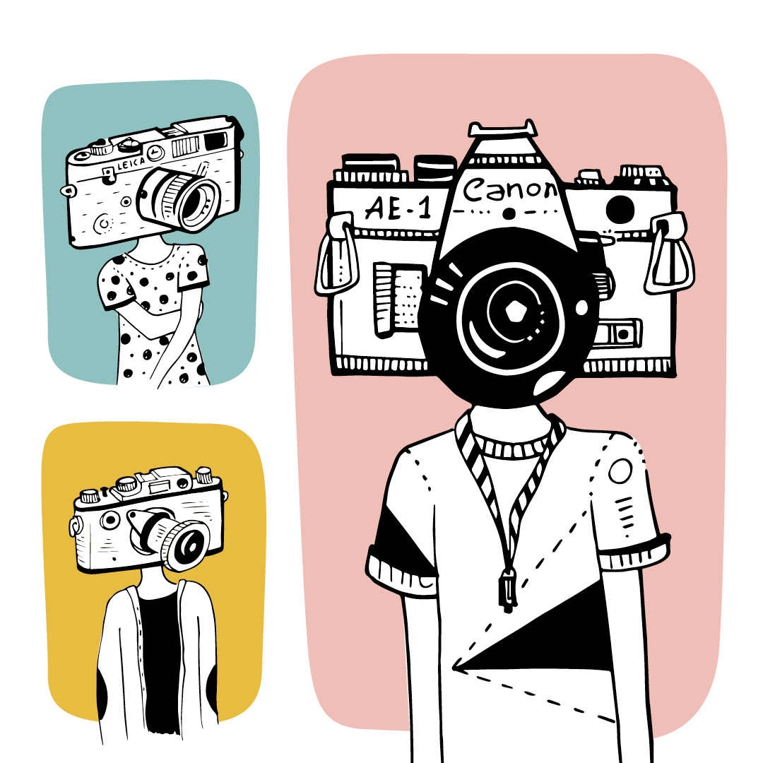 Nadia Groff - Vintage people - illustration - photography guy