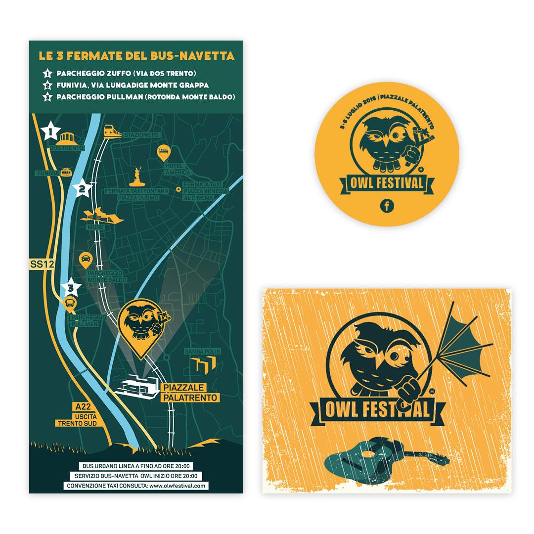 Nadia Groff - Owl Festival - Music Summer Festival - Trento - Graphic design 2