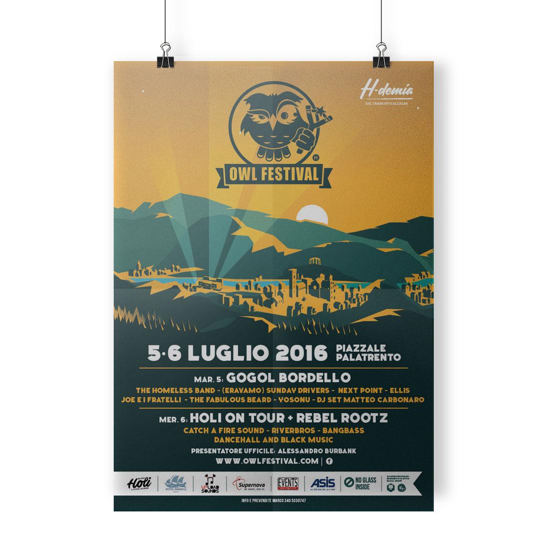 Nadia Groff - Owl Festival - Music Summer Festival - Poster 2017