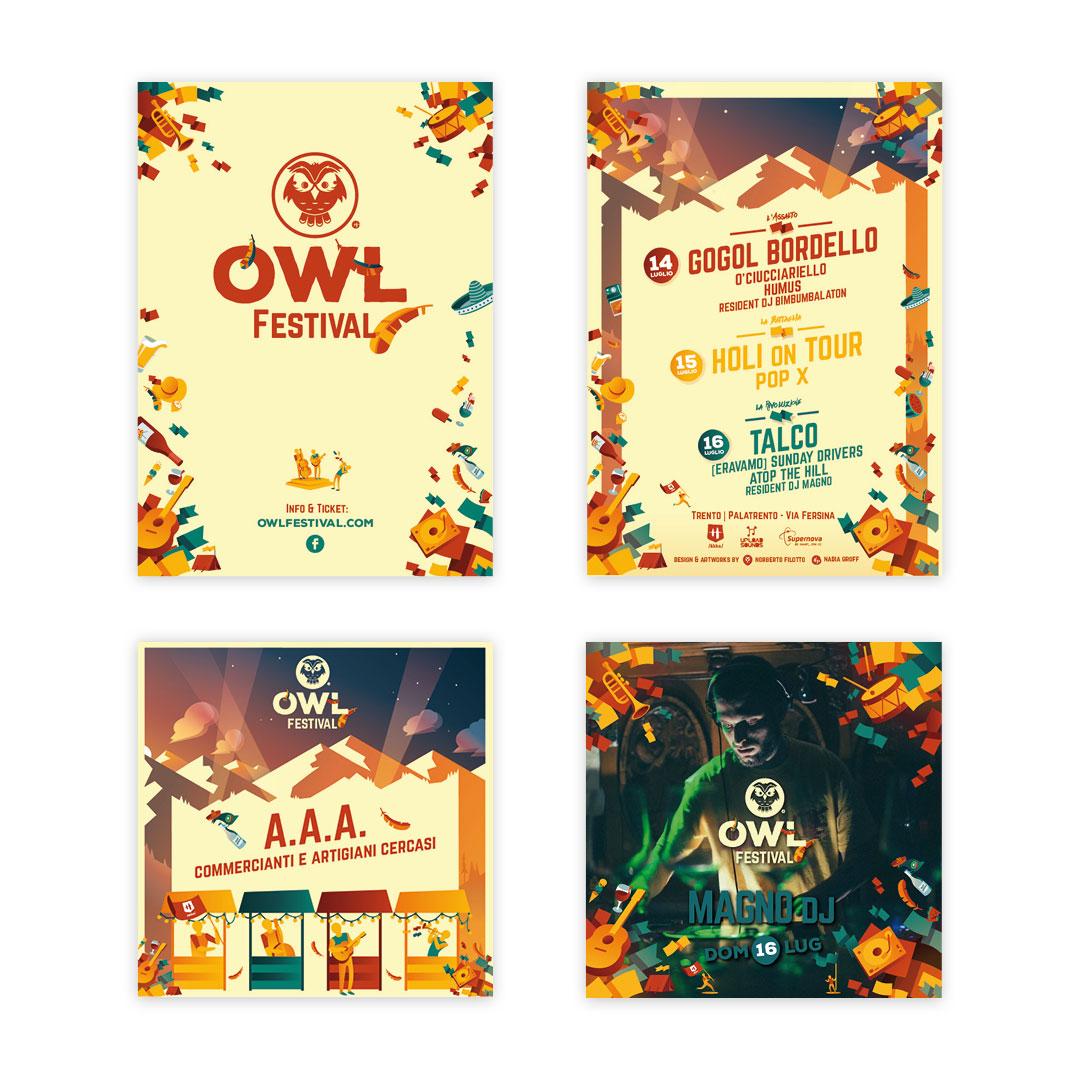 Nadia Groff - Owl Festival - Music Summer Festival - Trento - Flyer