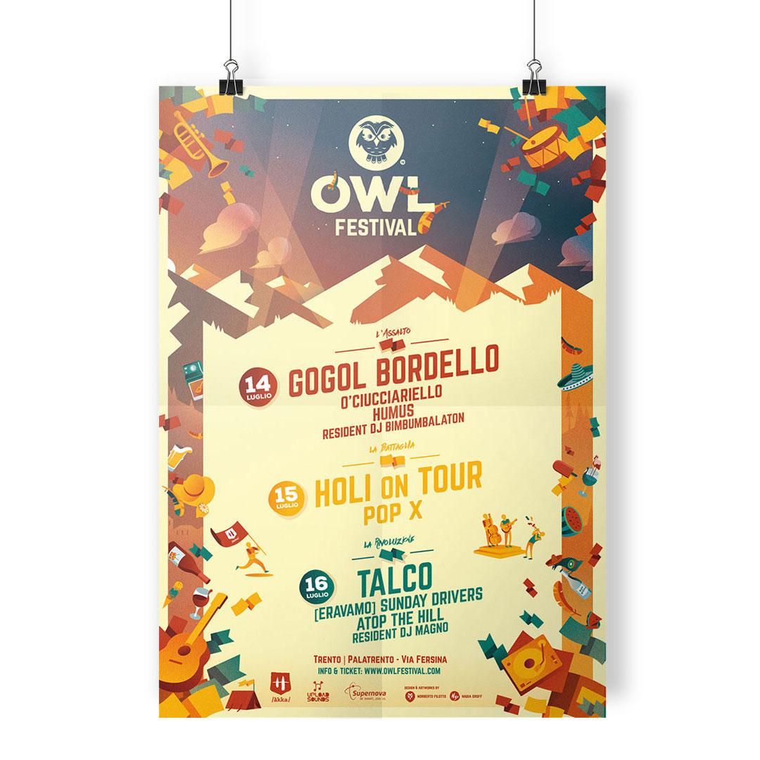 Nadia Groff - Owl Festival - Music Summer Festival - Trento - Poster