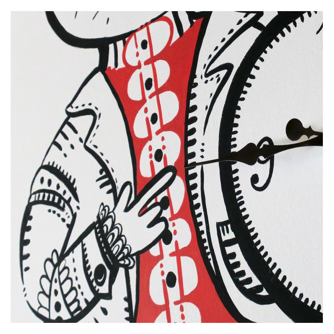 Nadia Groff - Murales - Orologio - Coniglio - illustrazione - lancette - ngr