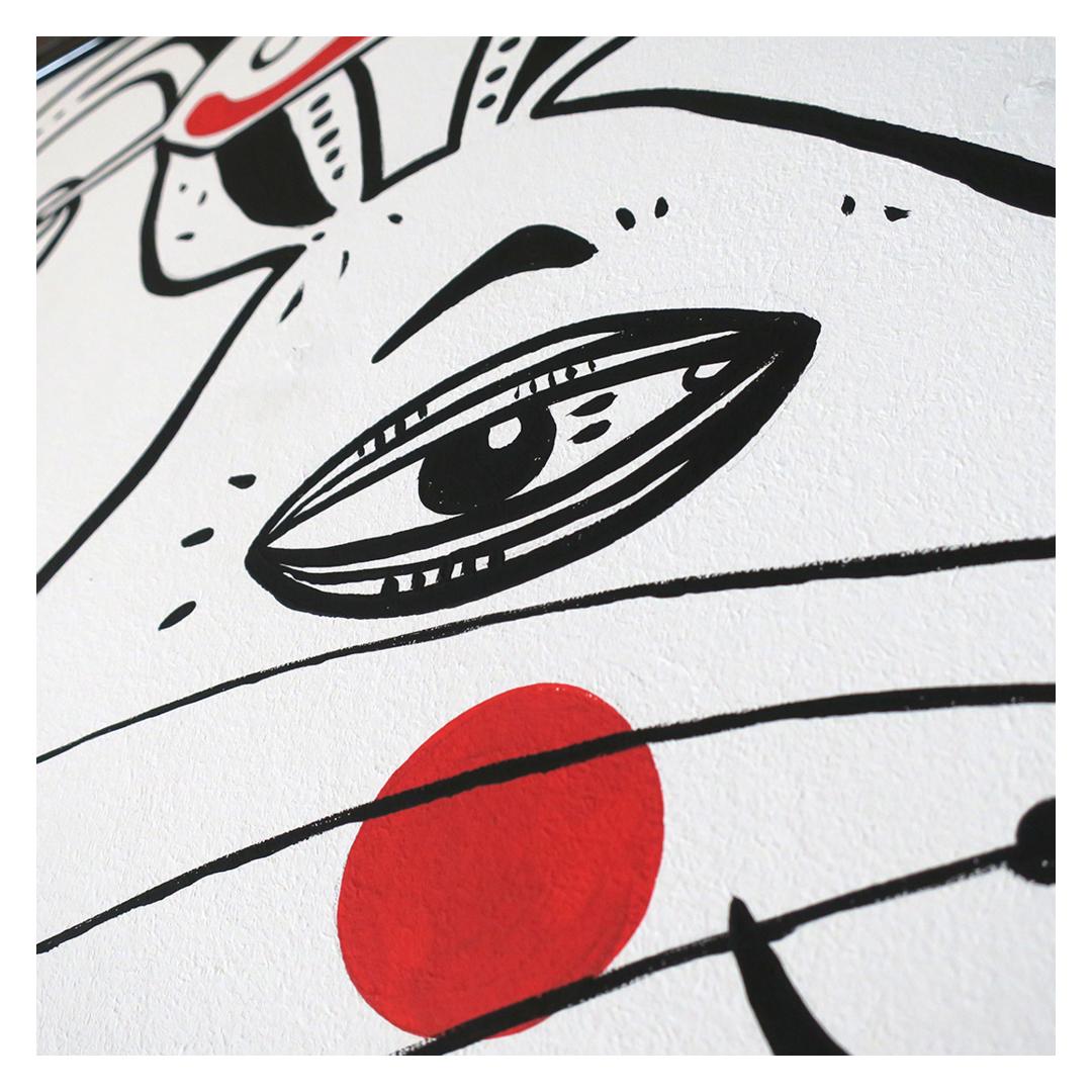 Nadia Groff - Murales - Orologio - Coniglio - illustrazione - occhio - ngr
