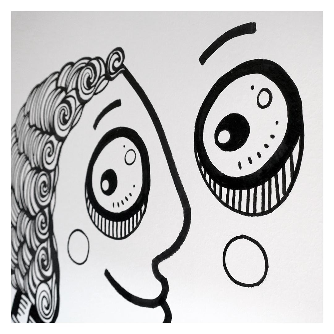 Nadia Groff - Murales - Cucina - occhio - illustrazione - ngr