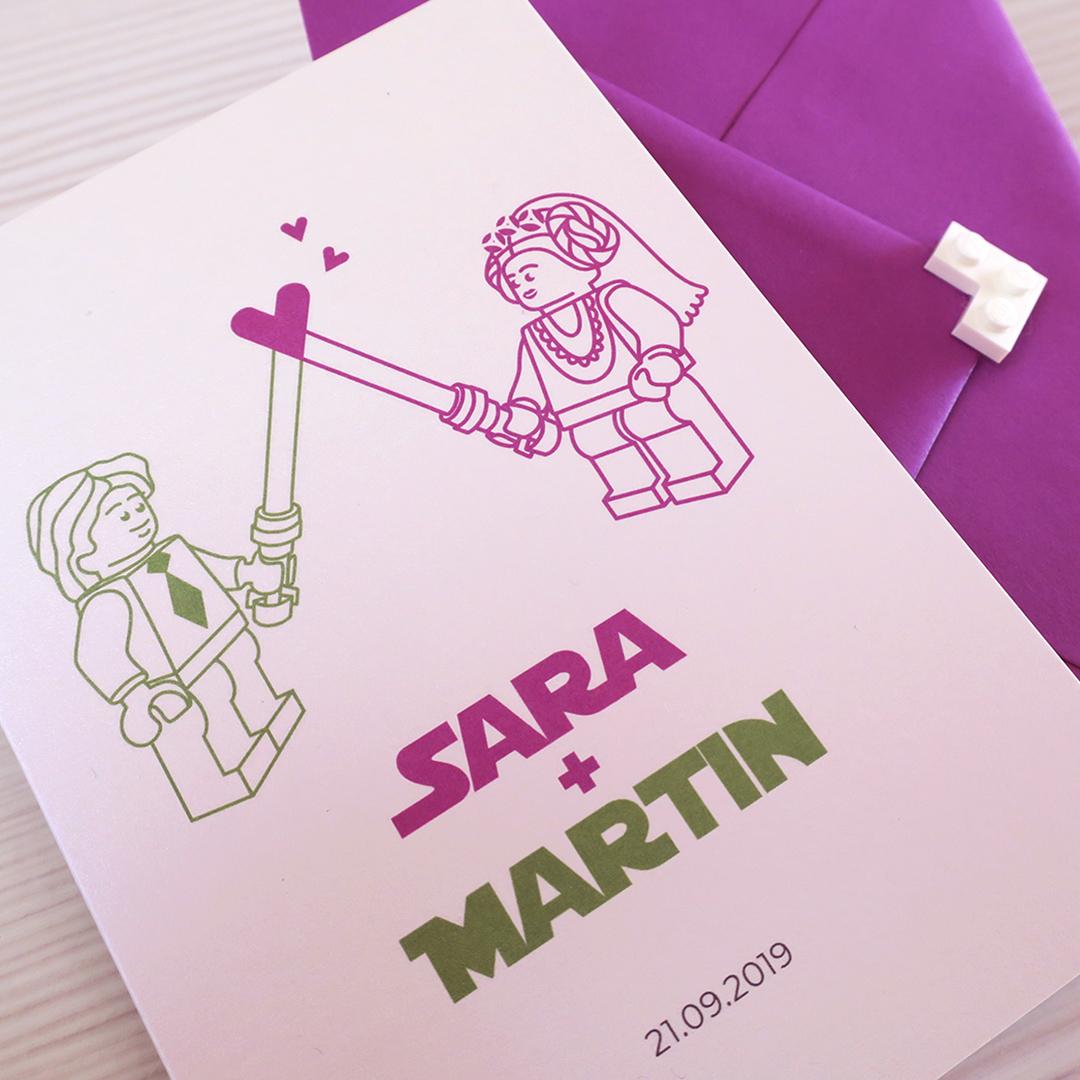 Nadia Groff - Wedding Invitation - Illustration - Stars Wars
