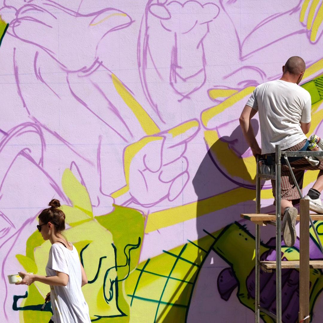 Nadia Groff Murales Via Giusti Trento 3