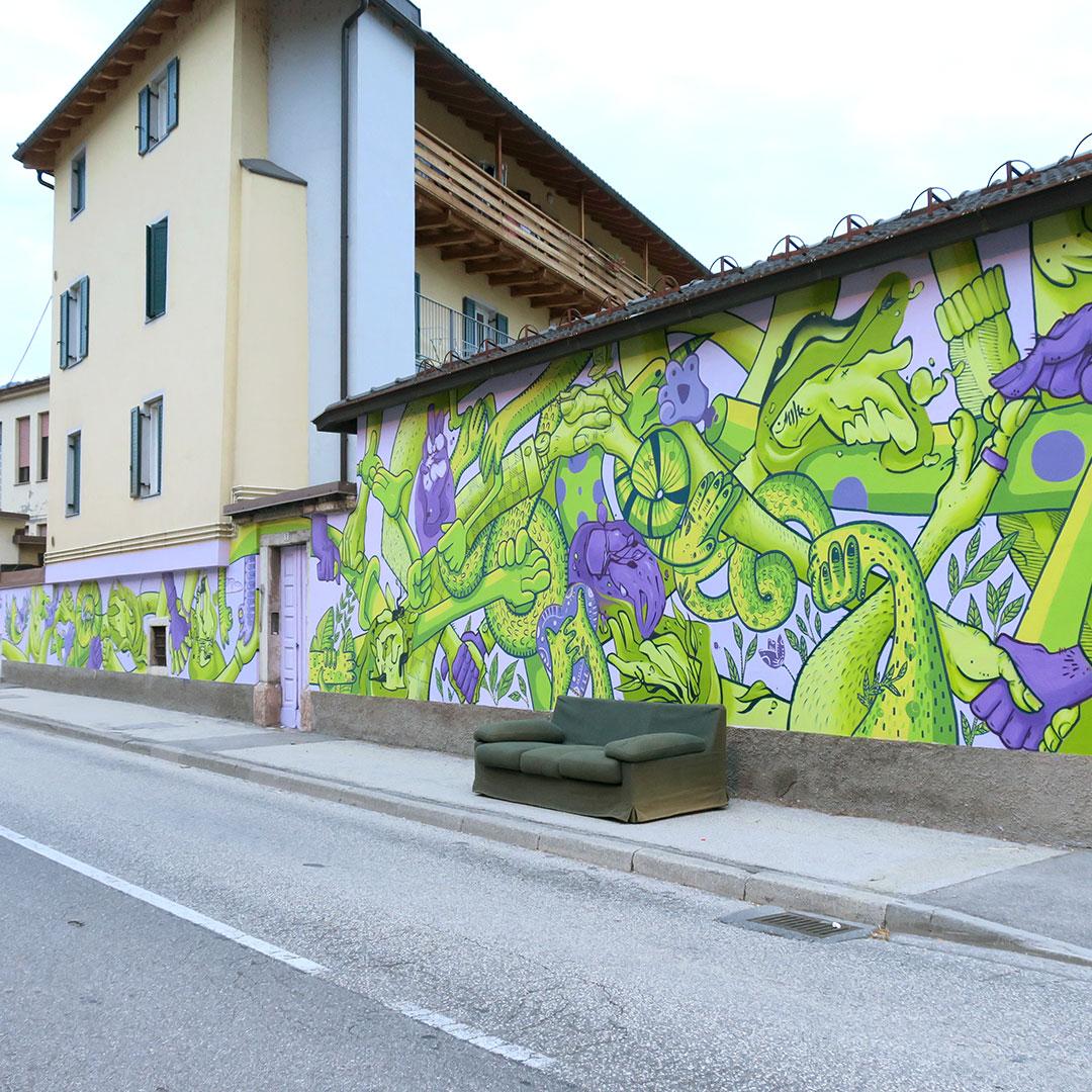 Nadia Groff Murales Via Giusti Trento 6